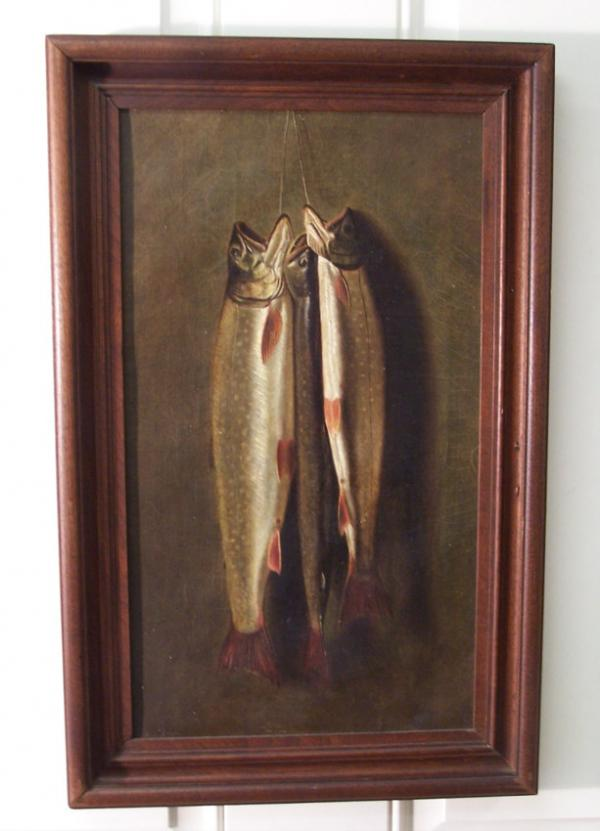 Price My Item Value Of 19th C Brown Trout Oil Painting On