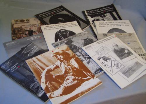 Brian Rib Mobley historical ephemera auction catalogs