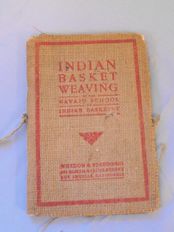 Indian Basket Weaving Whedon and Spreng Co 1903