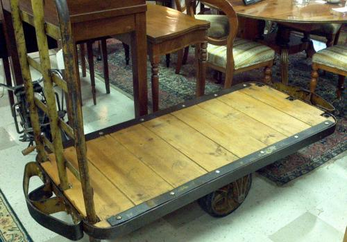 Steampunk Industrial moving trolley cart c1900