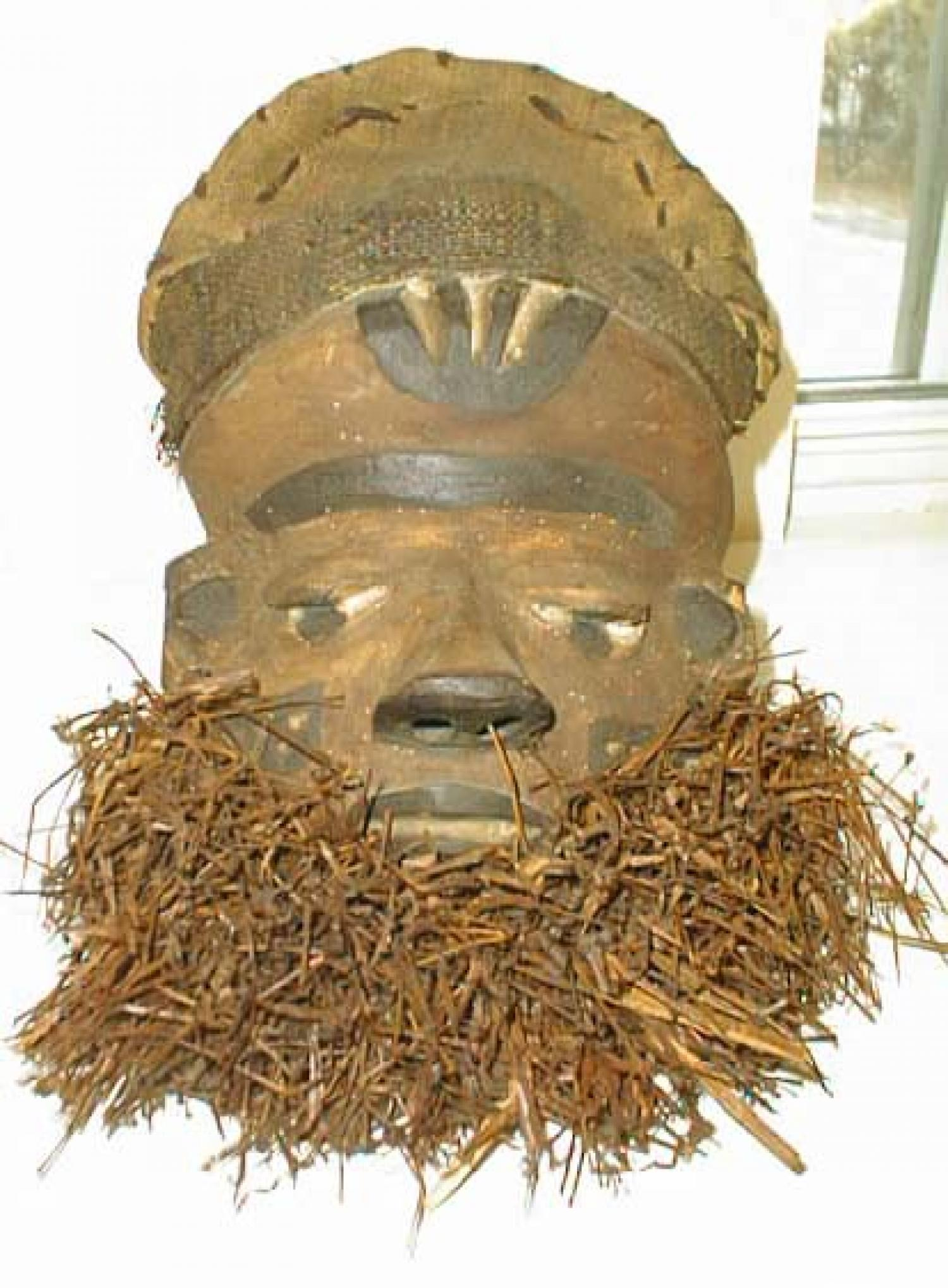 Antique tribal mask Bipende tribe ivory coast