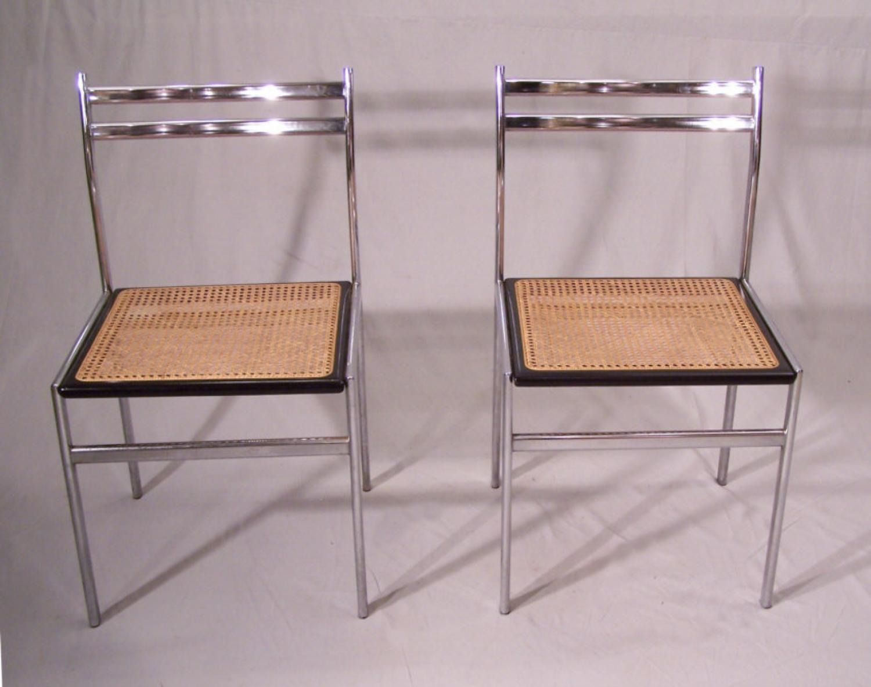 pair of vintage philippe starck objet perdu chrome black. Black Bedroom Furniture Sets. Home Design Ideas