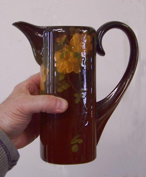 Rookwood pottery Edward T Hurley pitcher with Davis Collamore label