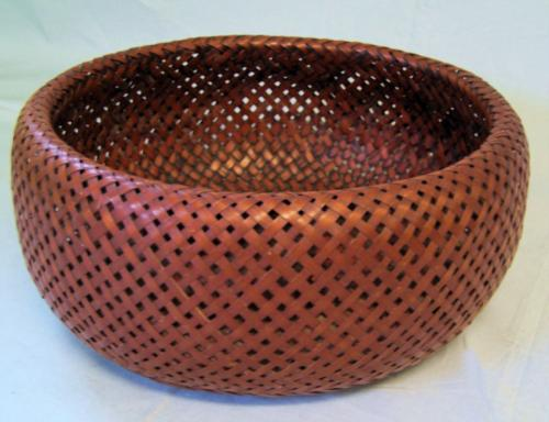 Japanese Meiji Ikebana double sided basket