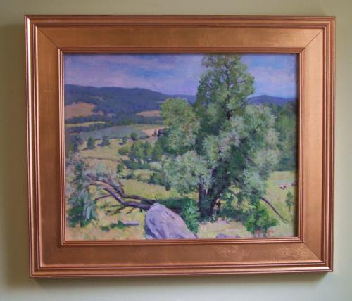 Helen Savier DuMond oil landscape of Lyme Hills