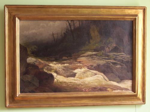 Landscape oil painting by Arthur Parton c1900