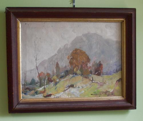 Chauncey Foster Ryder oil painting on canvas impressionist landscape