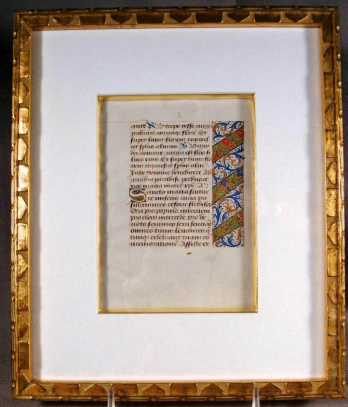 15th Century French Medieval Period Book of the Hours on velum