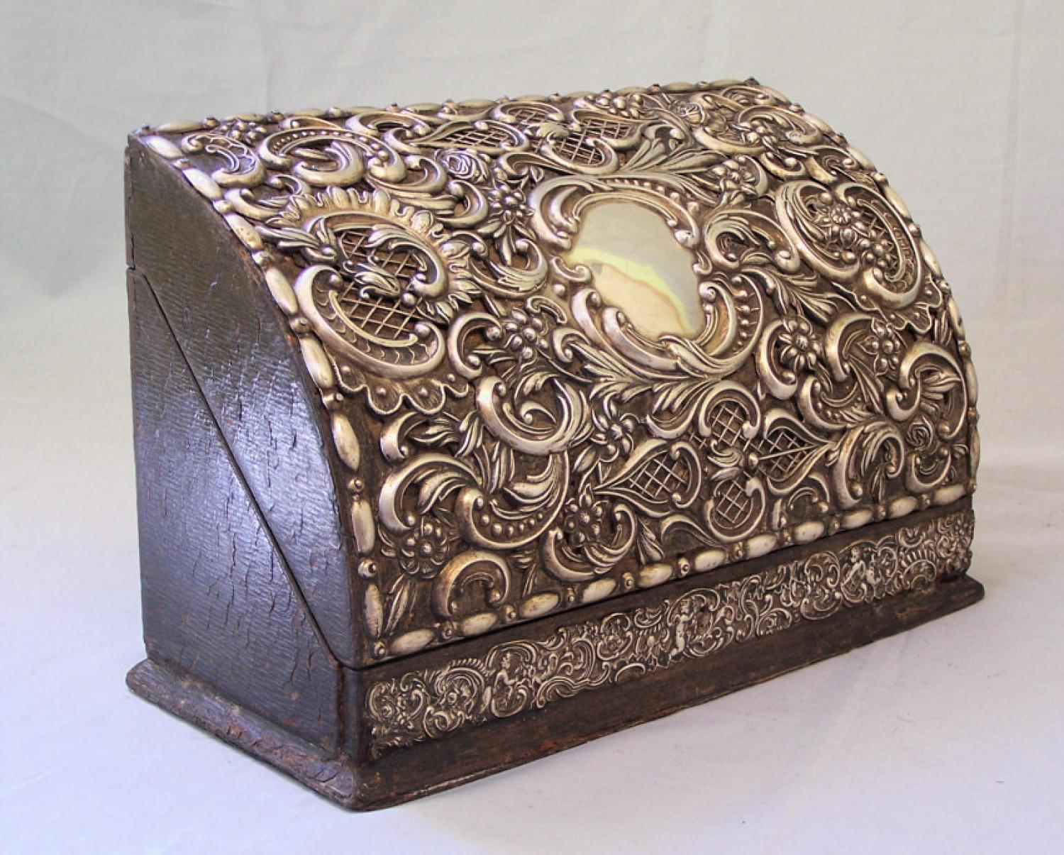 Sterling silver letter box William Comyns Sons maker London c1902