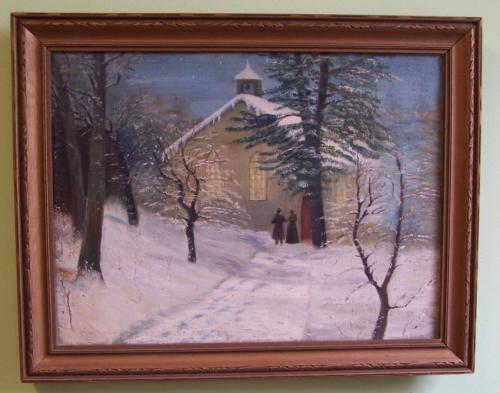 Albert Babb Insley oil painting Old Baptist Church