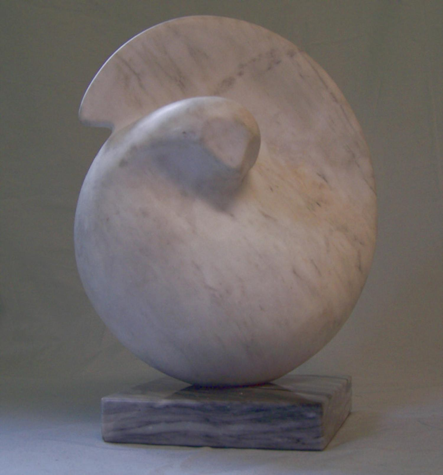 Marble abstract sculpture of a dove