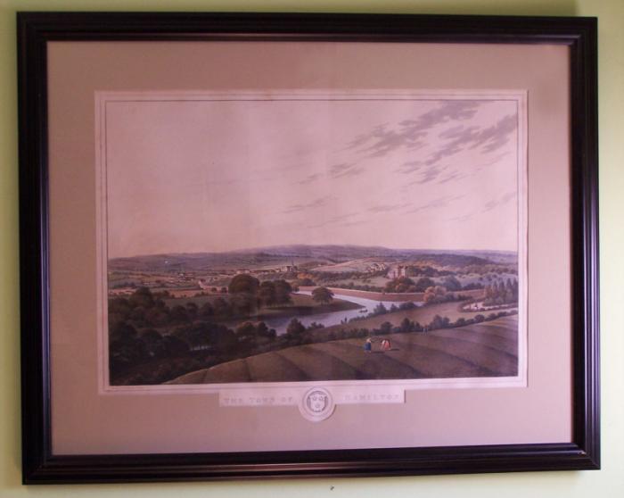 London print of Town of Hamilton  Smith Elder Co c1825