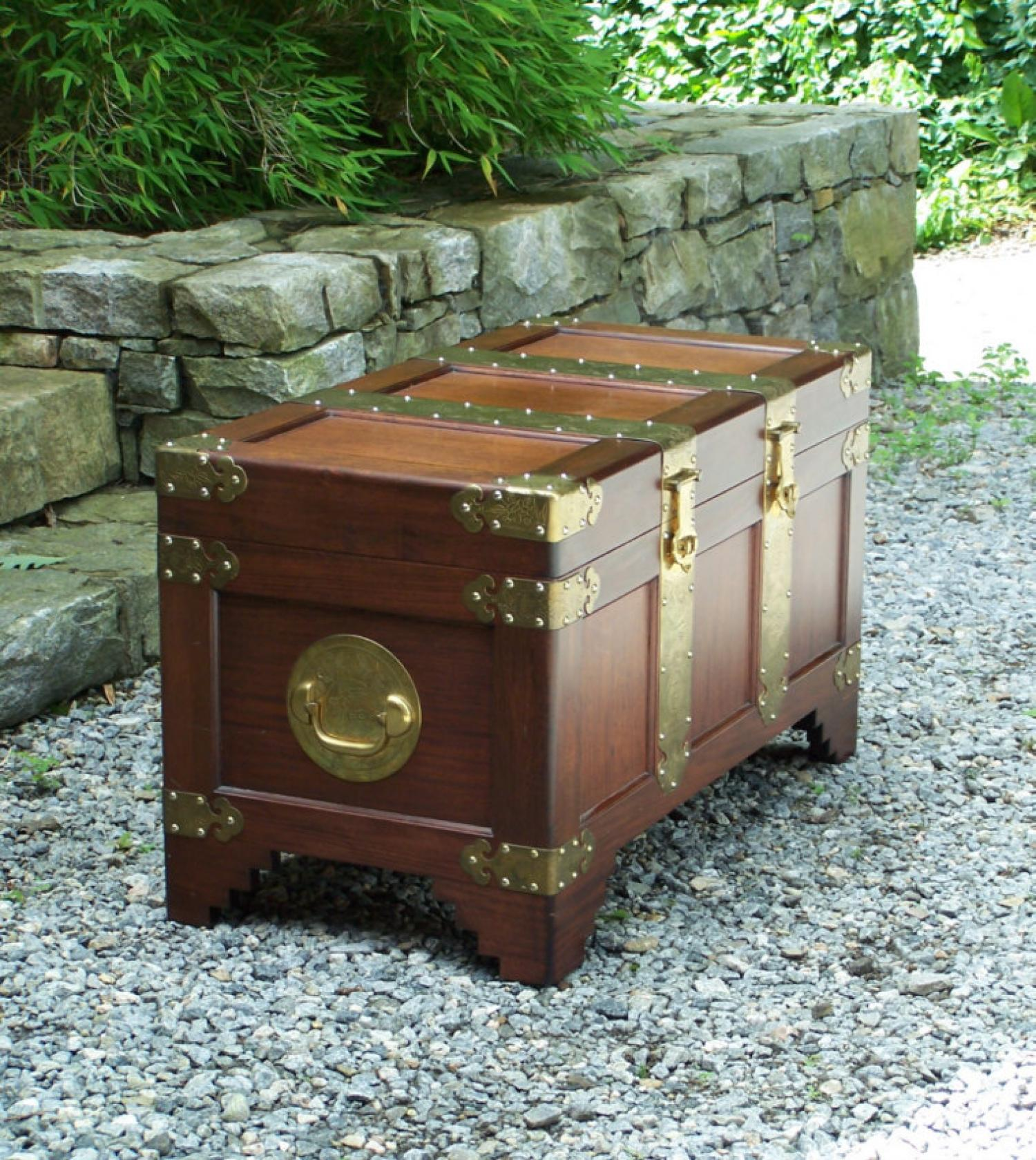 Vintage Chinese camphorwood chest c1950