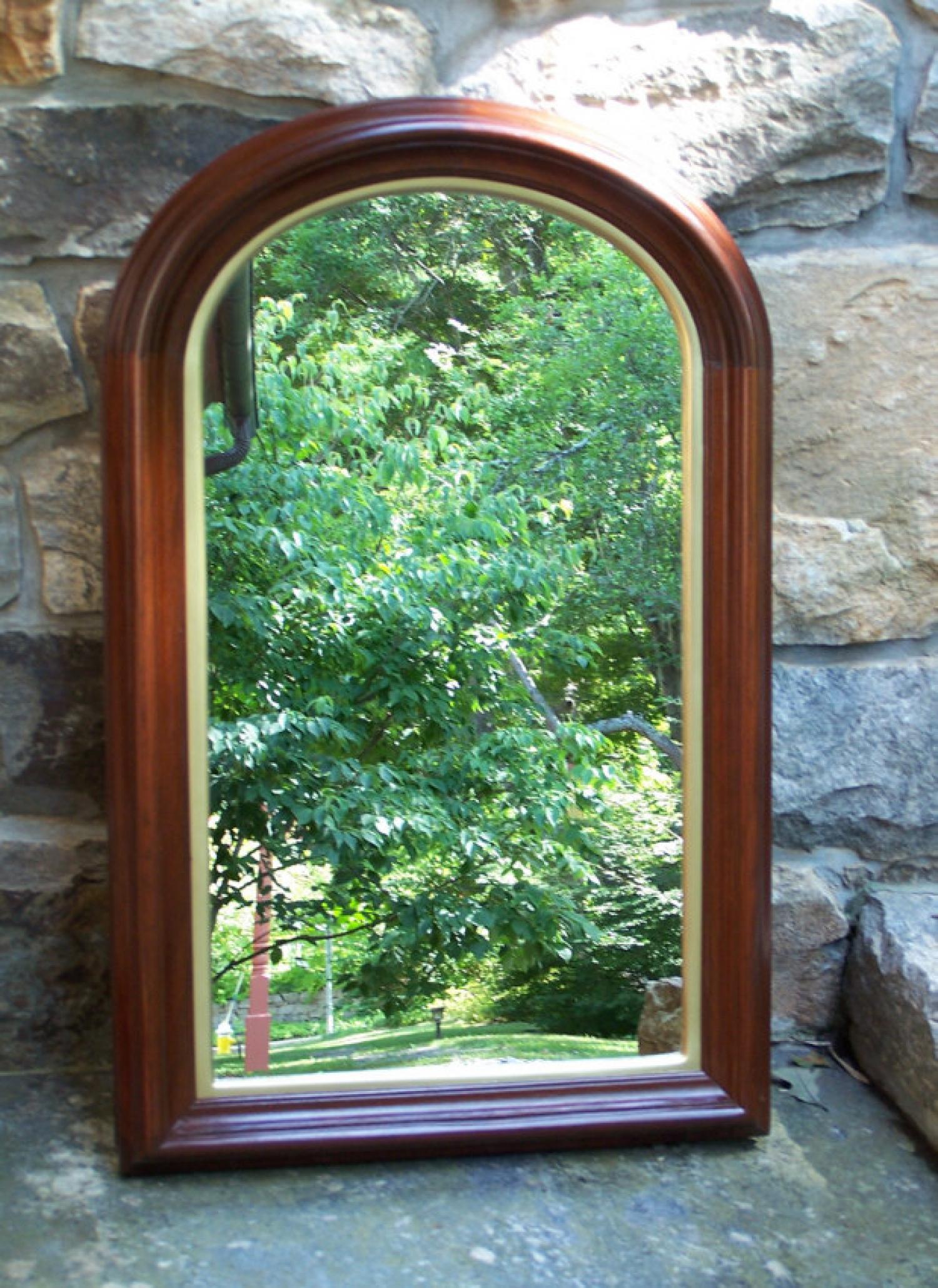 America Victorian walnut mirror c1860