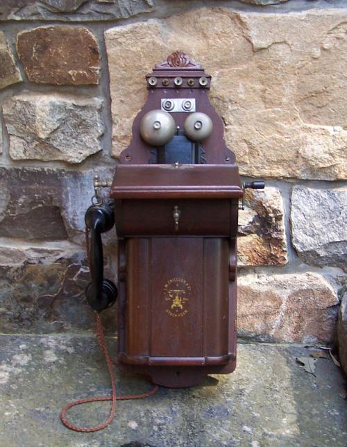 L M Ericsson Sweden crank wall phone c1909