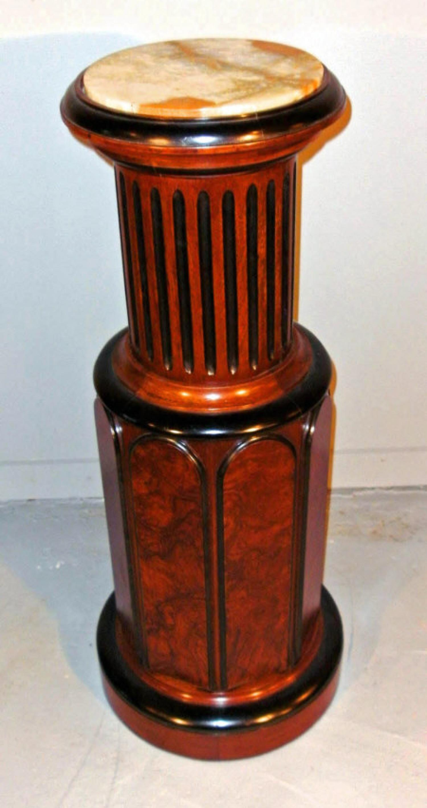 American New Classic style multi tiered mahogany pedestal c1875