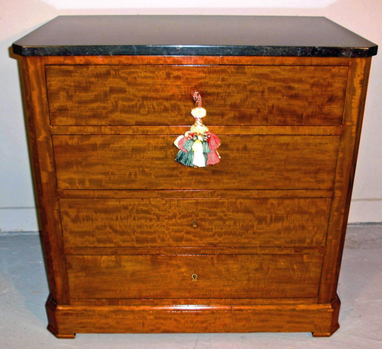 A Directoire Neo Classic style figured mahogany bureau c1800