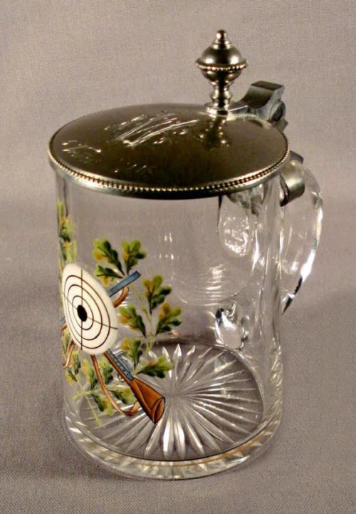 German crystal beer stein or tankard c1904