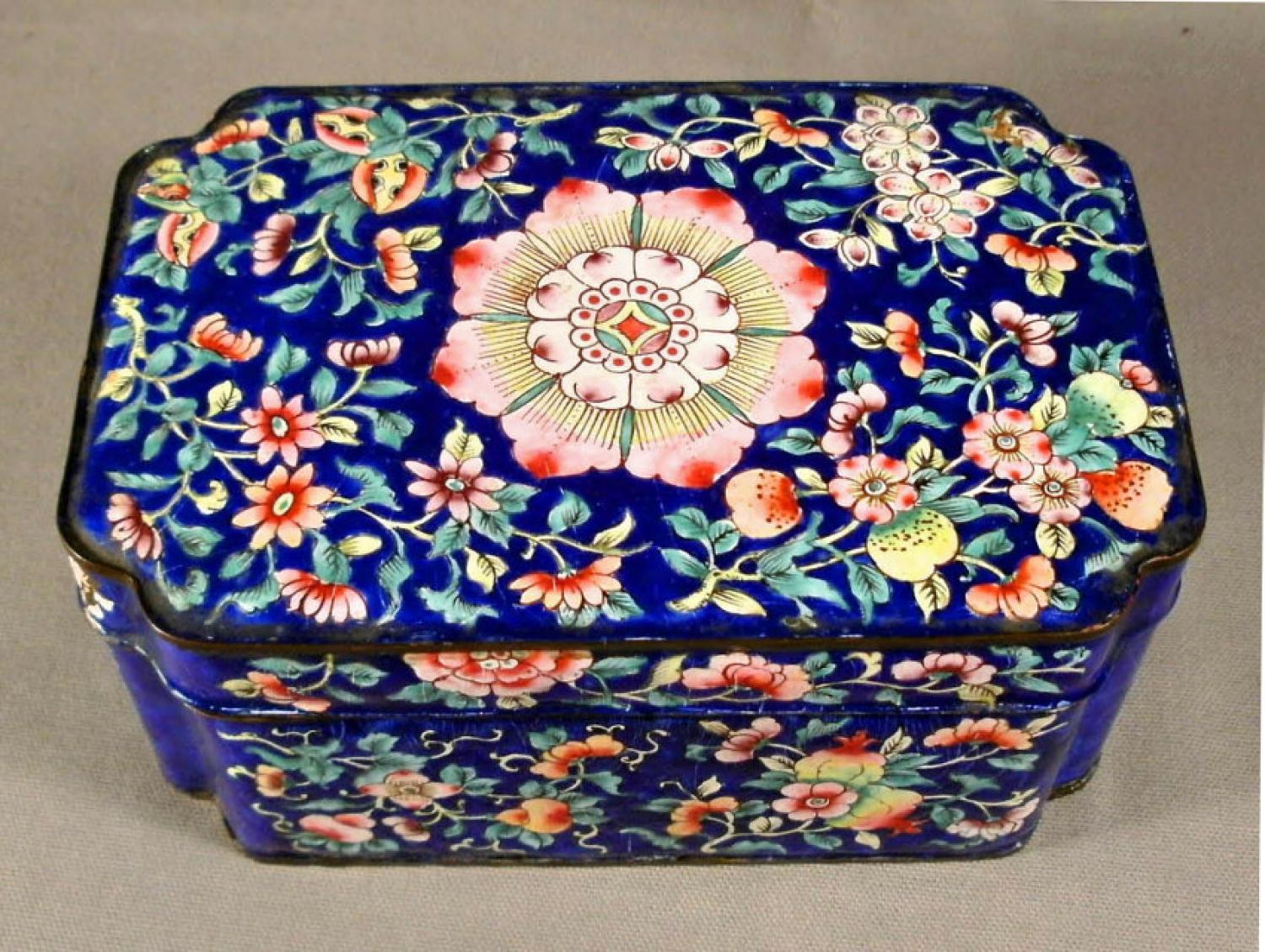 large vintage Chinese Peking valuables box c1900