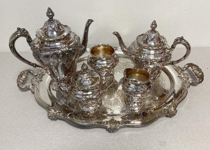 Reed and Barton silver plated tea and coffee service