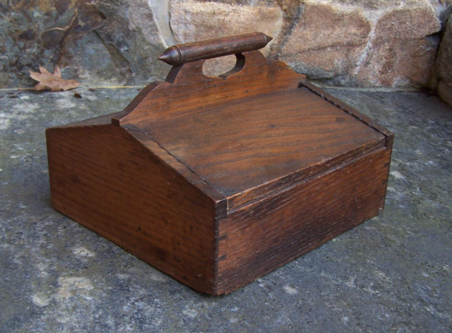 Country kitchen chestnut cutlery box c1860