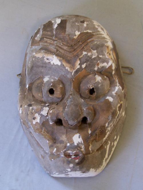 Antique Japanese carved wood mask
