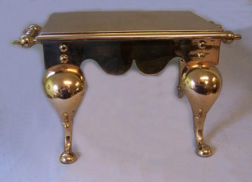 Heavy 19th c English brass trivet