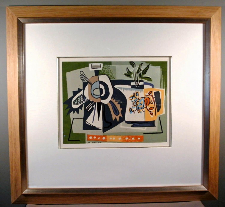 Guy Crittington MacCoy abstract serigraph on paper c1950