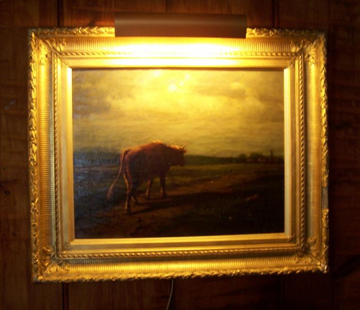 Constance Tryon oil painting titled Cow Coming Home