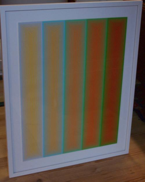 Original Serigraph Inward Eye Richard Anuszkiewicz c1970