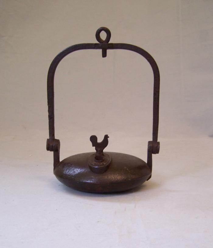 French iron miners whale oil lamp Clozet S Etienne