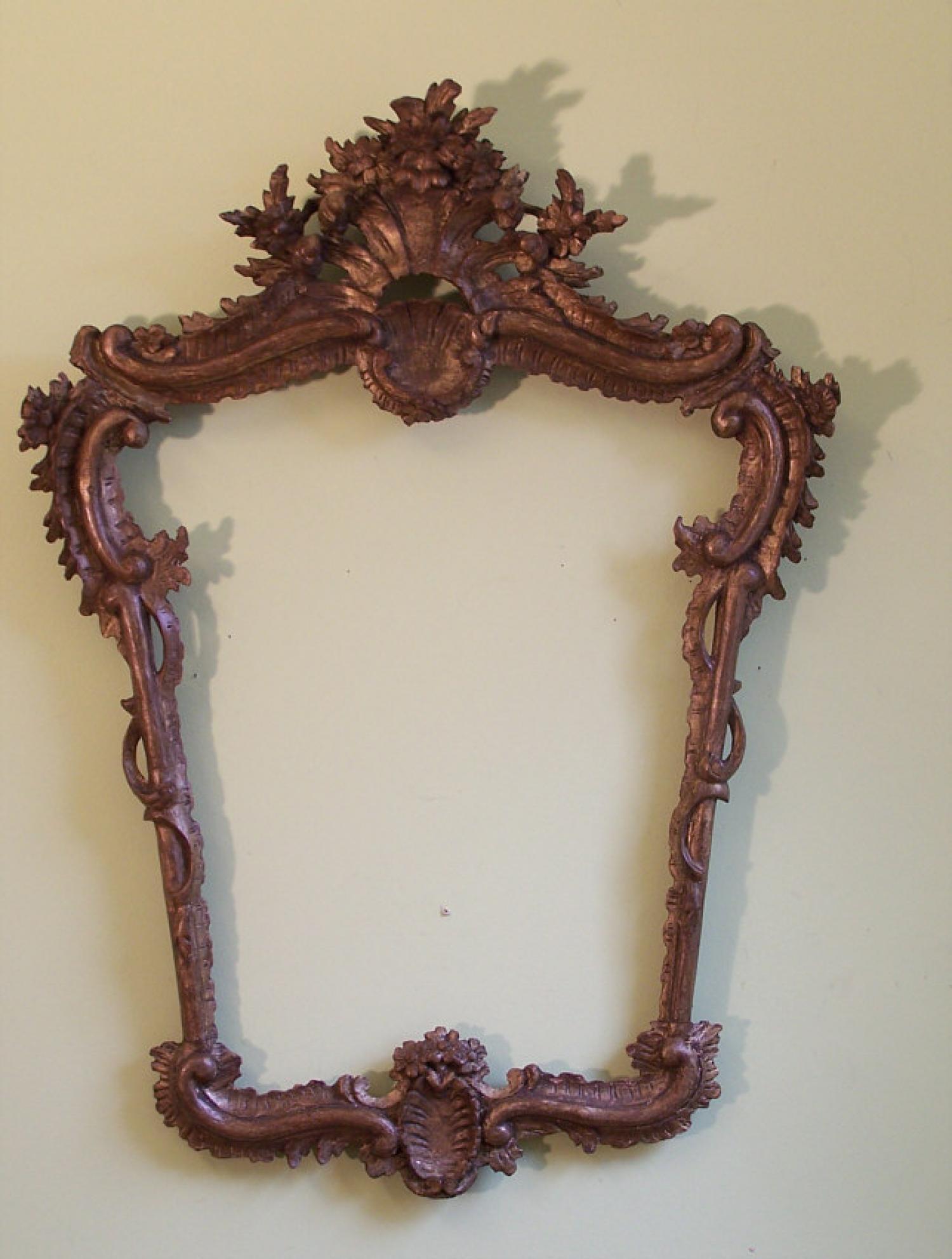 18th c Italian hand carved gold leaf  frame c1775