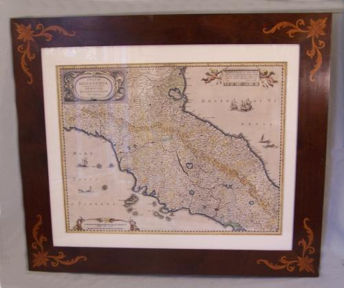 Map Stato Della Chiesa Dominium Ecclesiasticum In Italia c1630