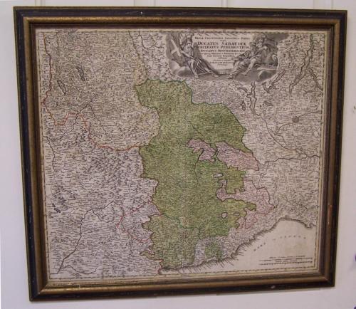 Ducati Sabaudiae map of Piedmont Italy c1710