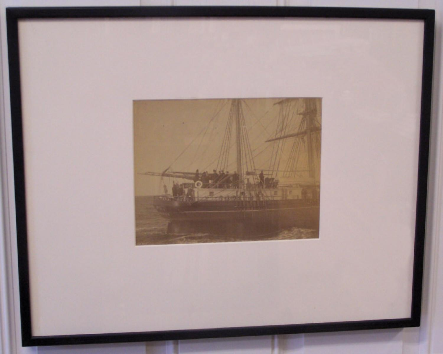 Maritime photograph the ship Sarah by N L Stebbins Boston