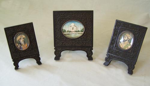 Taj Mahal framed miniature paintings c1880