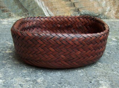 Japanese  Ikebana double sided basket c1910