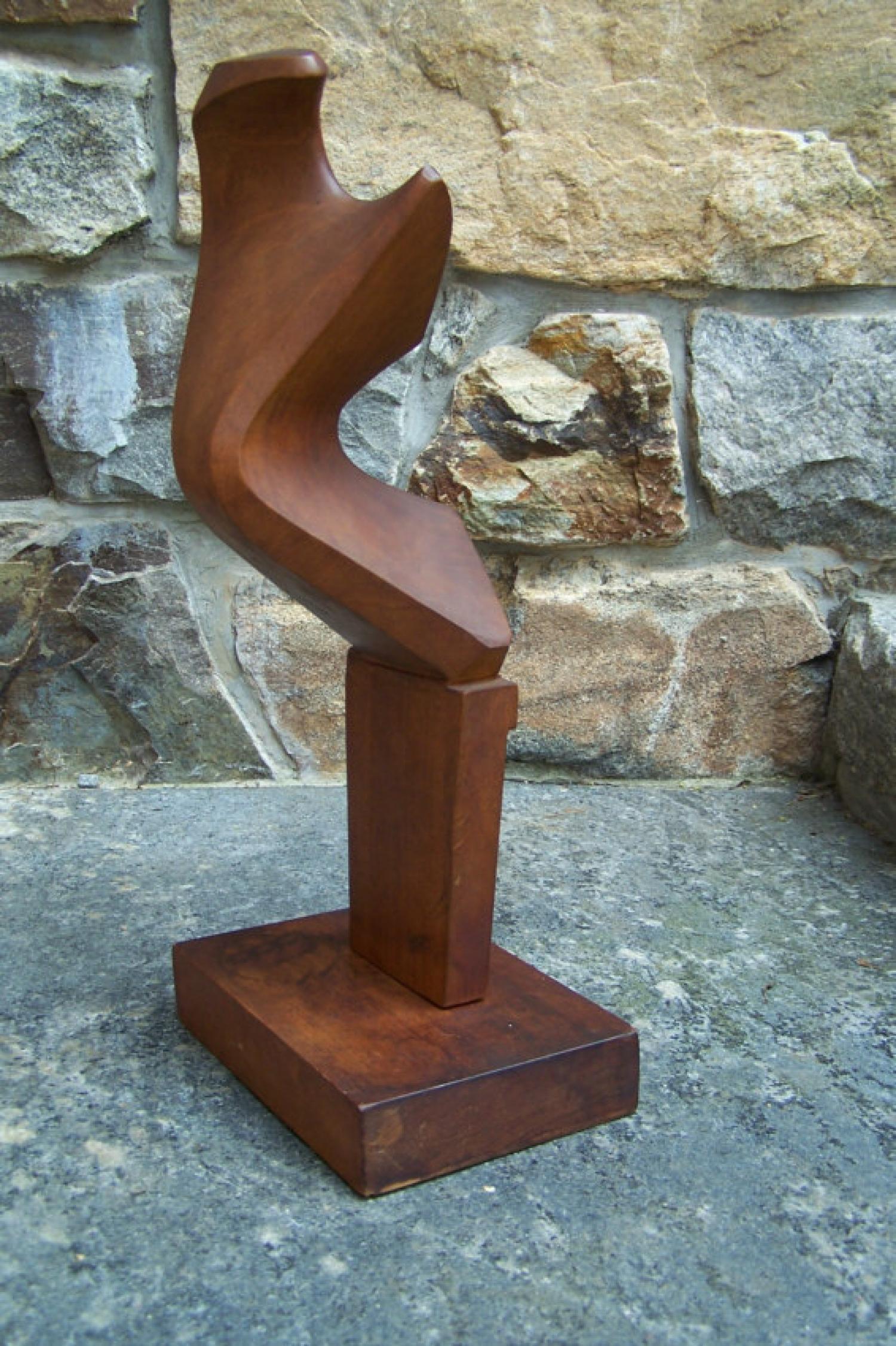 Italian mid century modern G Carli wood sculpture