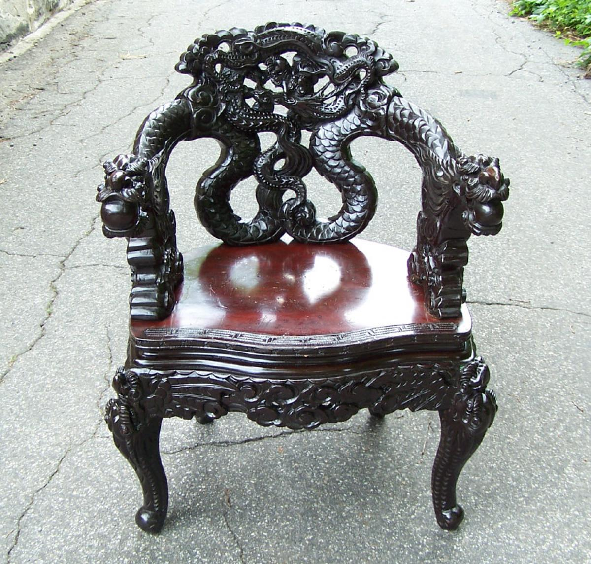 Price My Item Value Of Antique Chinese Dragon Chair C1880 - Antique Chinese Dragon Chair - Best 2000+ Antique Decor Ideas