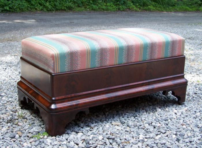 American Empire upholstered ottoman c1840