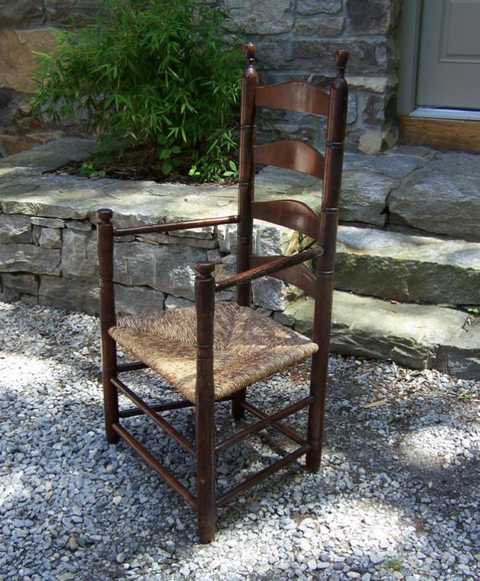 Early American ladder back armchair c1720