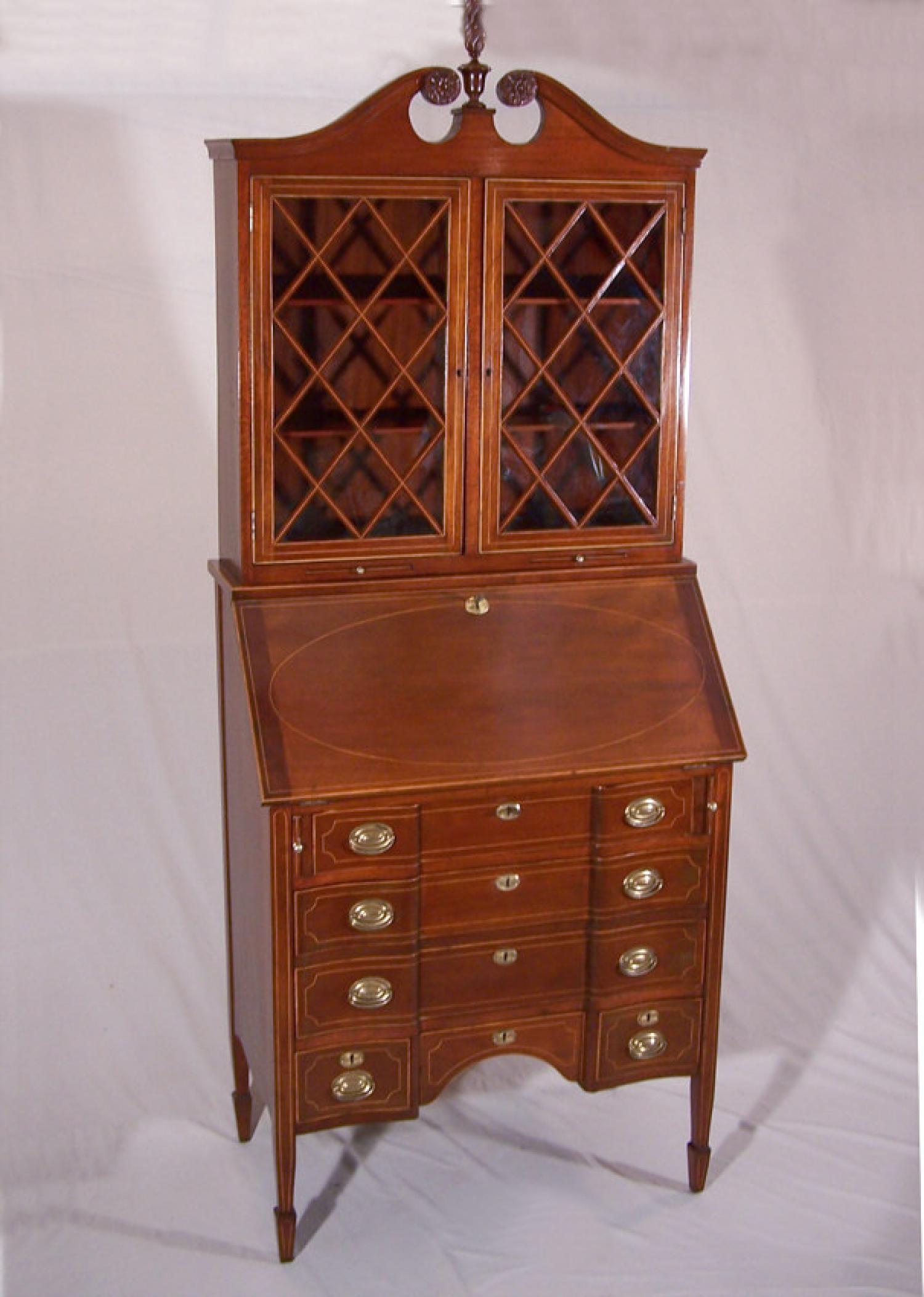 Centennial period Federal style mahogany secretary c1875