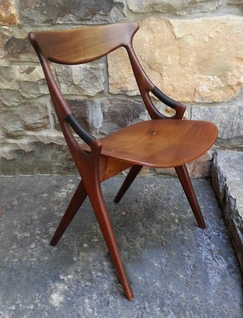 Arne Hovmand Olsen side chair for Mogens Kold Furniture Denmark c1950