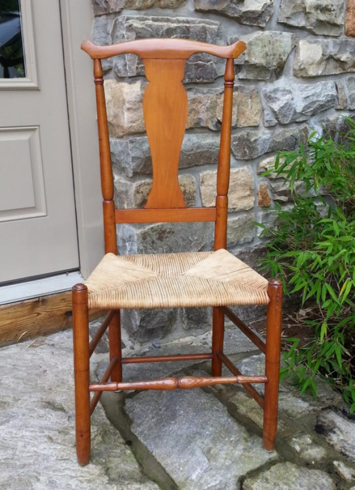 Queen Anne maple side chair New England c1720