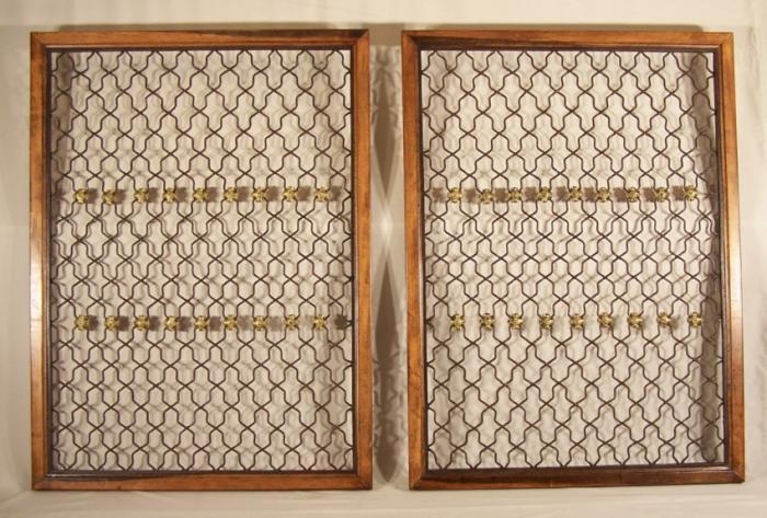 Antique gilt window grilles c1870 Pr Iron and gilt