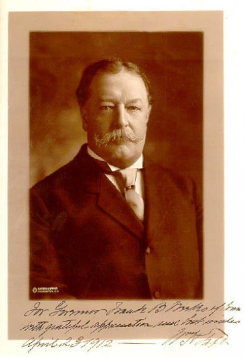 President William Howard Taft signed photograph