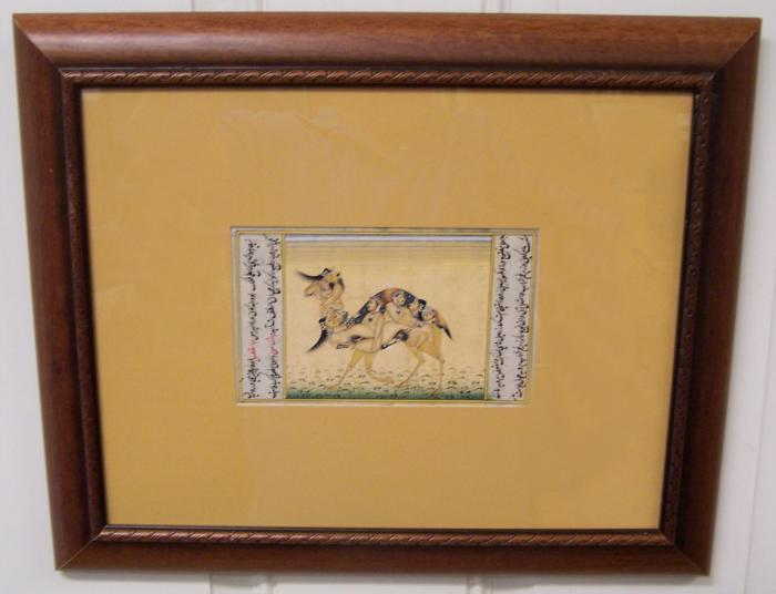 Miniature erotic painting Rajasthan India  c1800