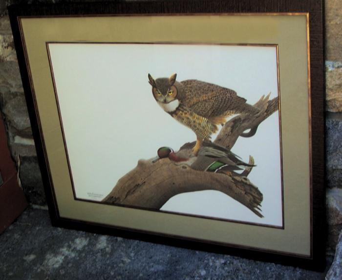 William  Harold  Zimmerman limited edition owl print