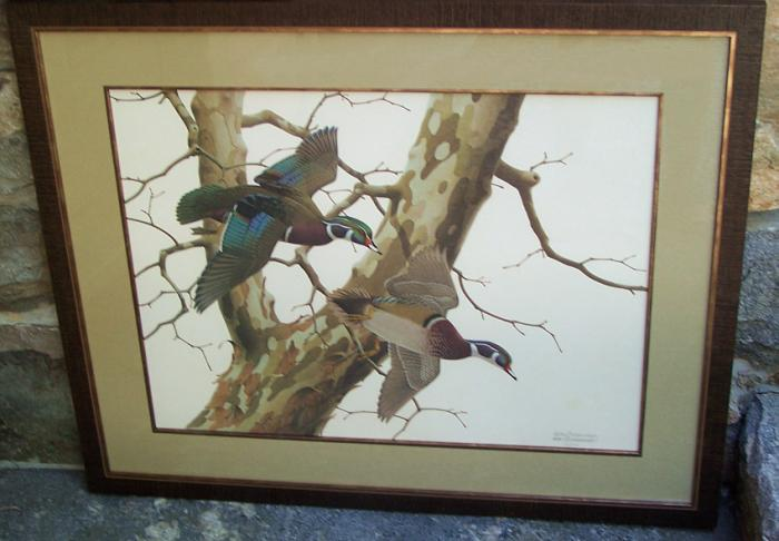 William Harold Zimmerman limited edition duck print