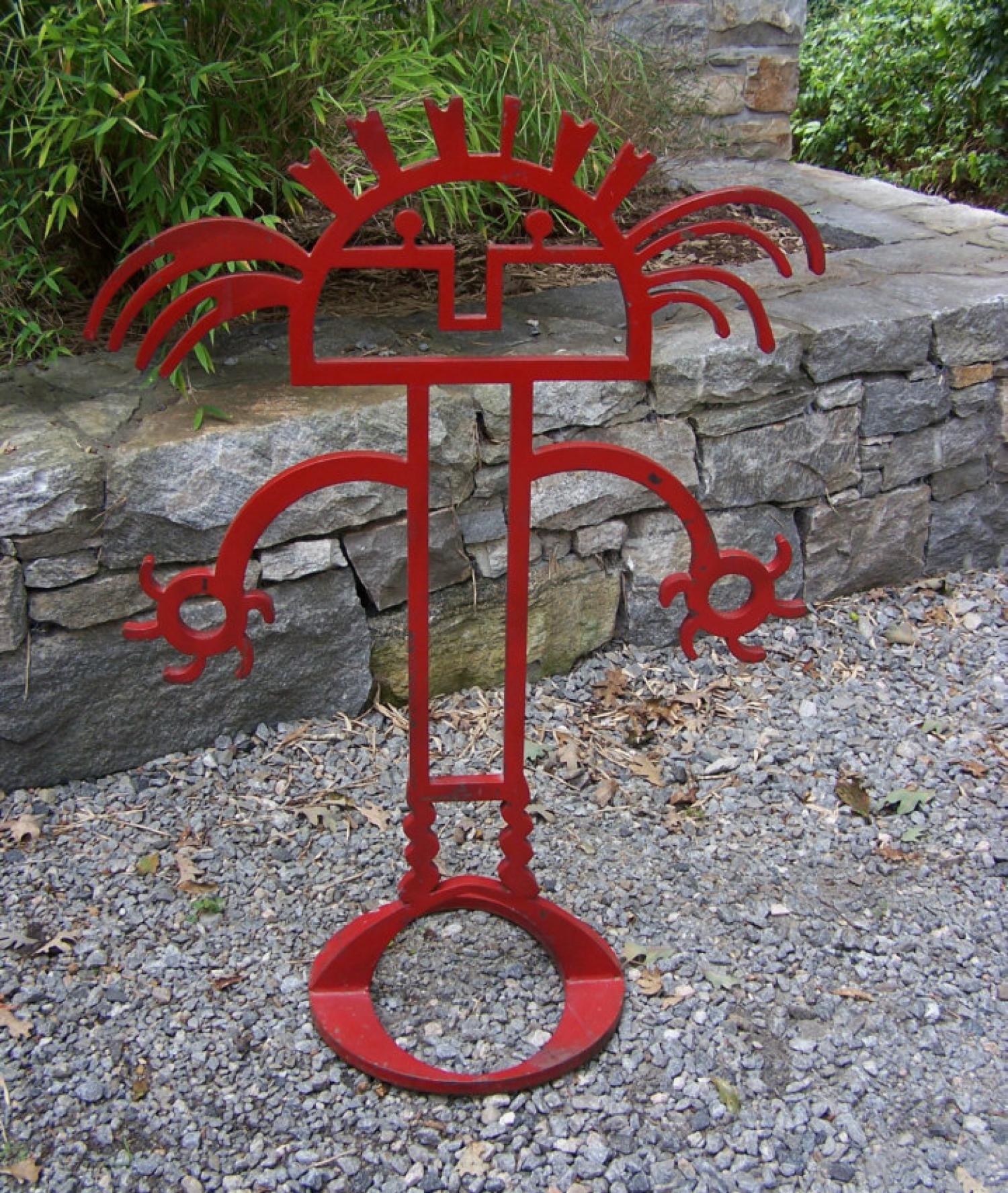 Abstract steel figure sculpture c1960